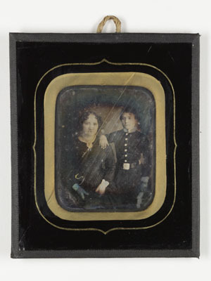 Portrait of a woman and boy