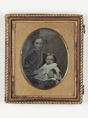 portrait of  woman with a child