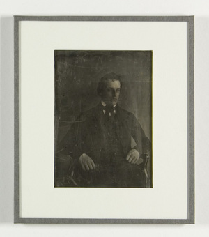 loose plate; portrait of man, possibly  Jacobus Enschedé