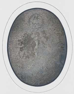 Image 9 x 6,5 cm; Cadre 17,8 x 15,4 cm; Passe partout 14,5 x 12 cm