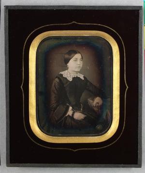 France. Daguerréotype coloré, 1/4 de plaque, 9 x 7 cm