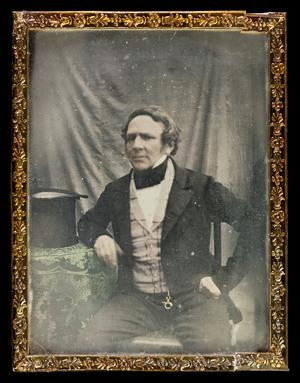 Portrait of consul Carl Lindeberg, colored.