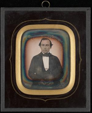 Portrett av middelaldrende mann. Haakon Christian Mathiesen, 24.2 1827 - 11.9 1913.  Portrait of man. Haakon Christian Mathiesen, 24.2 1827 - 11.9 1913.