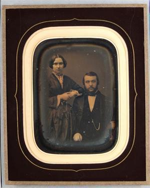 France. Daguerréotype, 1/4 de plaque, 11,8 x 8,5 cm