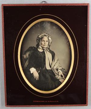 France. Daguerréotype, 1/2 plaque, 7,1 x 6 cm