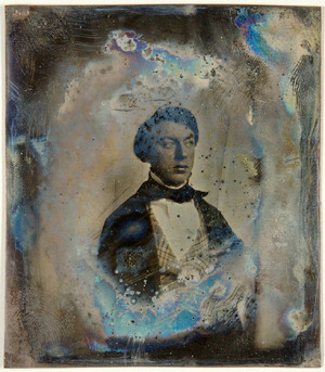 loose plate; portrait of unknown young man, possible Gerrit Christiaan Buyskes?