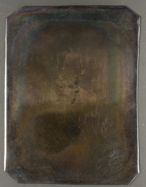Die Platte ist ungerahmt. Agnes Pauline Adelheid Starke, 1827-1912, Neu-Ruppin, Berlin, verh. mit Karl Richard Moritz Schilbach, 1827-1913, Phuhlsborn, Berlin.