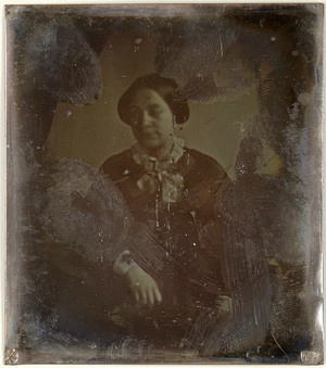 loose plate; portrait of unknown young woman possible Christina Gerarda Enschedé