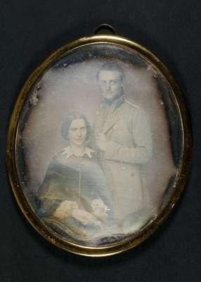 Dobbeltportræt af kaptajn J. F. Wessel og hustru Louisa F. Bauditz