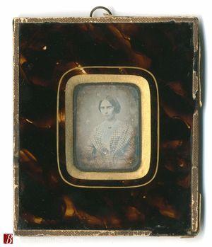 Ritratto al dagherrotipo di Alice-Blesi Eleonora …to Gardini eseguitosi …(T)orino 185..Morta in ..gni il 31 gennaio 1896 di anni 84