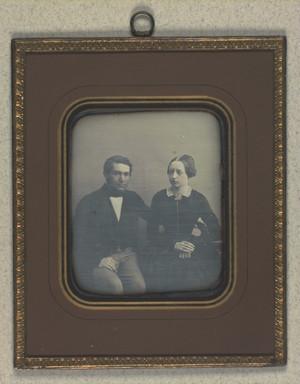 Dobbeltportræt af Frederik Rostrup og hans hustru Olavia