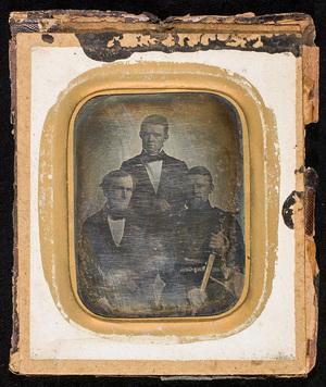 Portrait of three men.