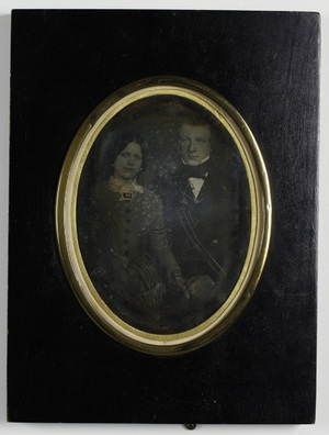 Back of the dagvuerreotype