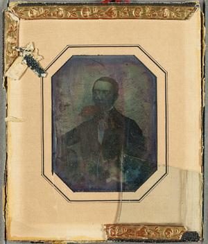 Portrait of Ernst Wigren. Muotokuvassa Ernst Wigren 32-vuotiaana.