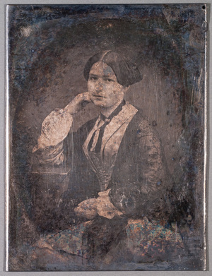 Portrait on young unknown woman.