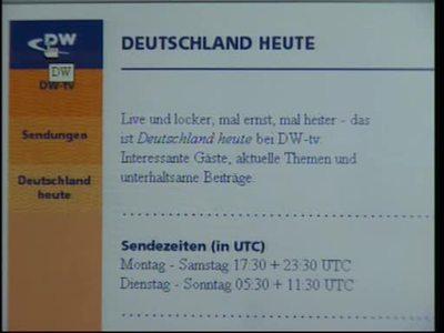 Wir über uns: DW-TV-Magazin Deutschland Heute
