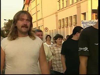 Hartz IV - Protestgruppierungen in Senftenberg