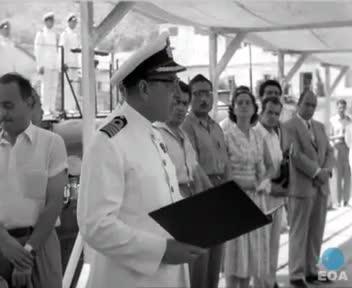 Τελετή ένταξης του υποβρυχίου «Αμφιτρίτη» στη δύναμη του Βασιλικού Ναυτικού στο ναύσταθμο Σαλαμίνας παρουσία του Υφυπουργού Εθνικής Αμύνης Γεώργιου Θεμελή