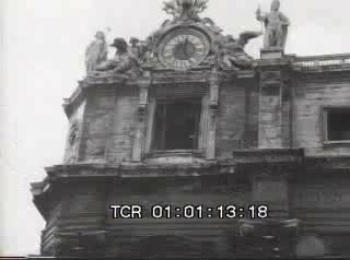 In St. Peter's square Paul VI serves a mass, announcing the encyclical Populorum Progressio