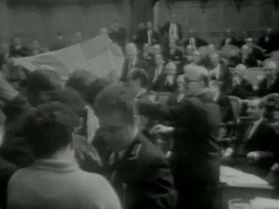 Eindringen von Béliers-Gruppe in Nationalratssaal