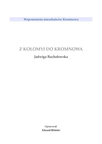 Z Kołomyi do Kromnowa [Dokument elektroniczny]