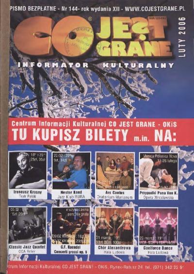 Co Jest Grane : informator kulturalny, 2006, nr 2 (144)