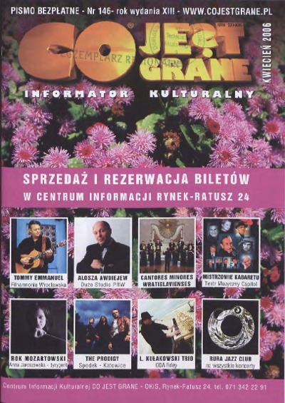 Co Jest Grane : informator kulturalny, 2006, nr 4 (146)