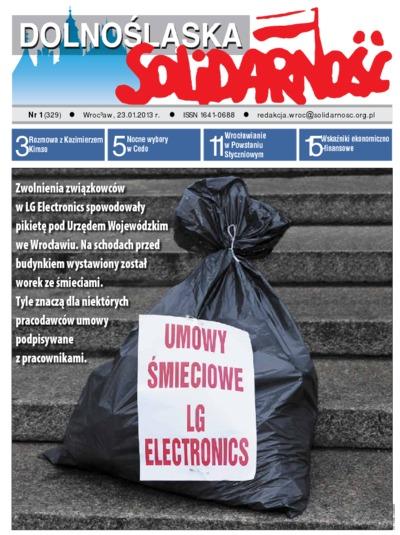 Dolnośląska Solidarność, 2013, nr 1 (329)