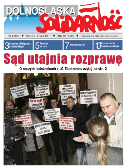 Dolnośląska Solidarność, 2013, nr 2 (330)