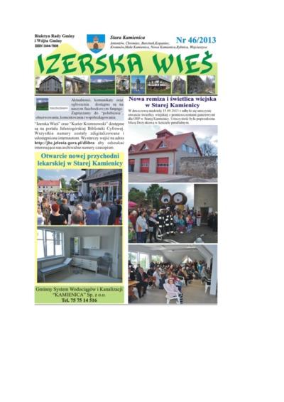 Izerska Wieś : Biuletyn Rady Gminy i Wójta Gminy, 2013, nr 46 [Dokument elektroniczny]