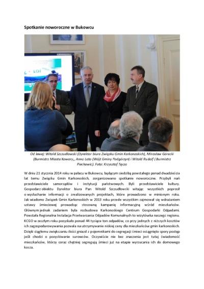 Spotkanie noworoczne w Bukowcu [Dokument elektroniczny]