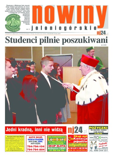 Nowiny Jeleniogórskie : tygodnik społeczny, R.56!, 2014, nr 37 (2882) [Dokument elektroniczny]
