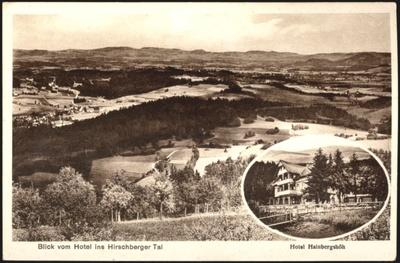 Blick vom Hotel ins Hirschberger Tal [Dokument ikonograficzny]