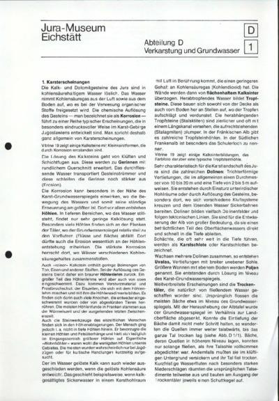 D1_Verkarstung und Grundwasser