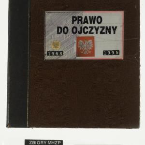 Kronika / Prawo do Ojczyzny