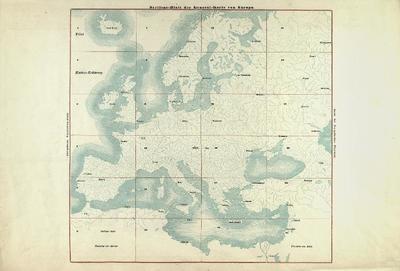General-Karte von Europa mit Klein-Asien und dem nördlichen Afrika