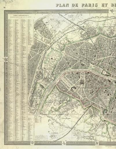 Plan de Paris et de son enceinte