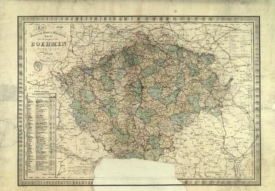 General Post- und Strassen-Karte des Königreiches Böhmen