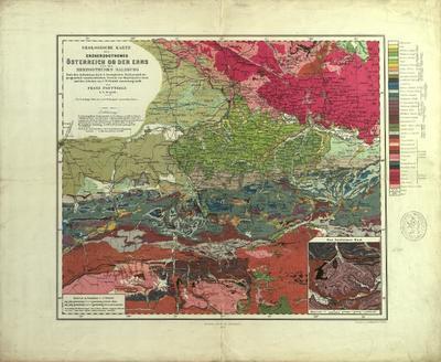 Geologische Karte des Erzherzogthumes Österreich ob der Enns und des Herzogthumes Salzburg