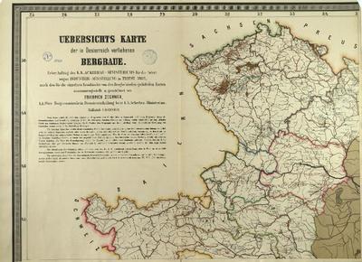 Übersichts-Karte der in Österreich verliehenen Bergbaue