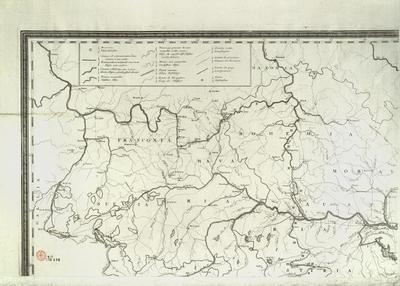 Carte hydrographique des etats le Maison d' Austriche en deça du Rhin Hydrographische Karte der oestreichischen Erbstaaten diesseits des Rheins