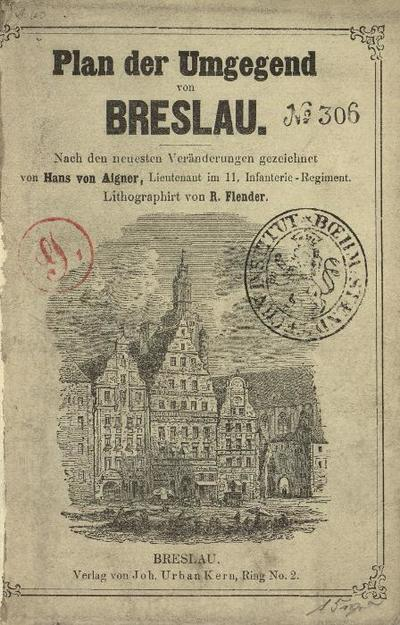 Plan der Umgegend von Breslau