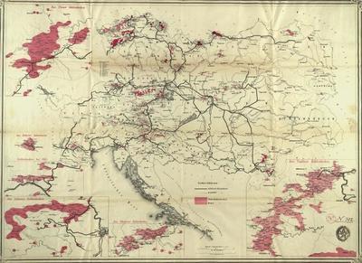 [Kohlenrevierkarte der Österreichischen Monarchie]