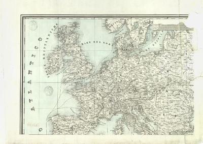 Carta generale delle vie ferrate d'Europa e delle marittime relative all' istmo di Suez