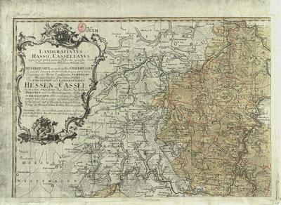 Landgrafiatus Hasso-Casselanus typographico quatuor Foliorum expressus Atlas nach neuesten Zeichnungen und Nachrichten zusammen gesetzt, verbessert und auf 4 Blaettern vorgestellt