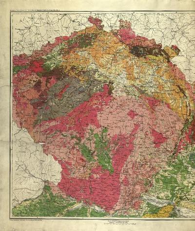 Geologische Übersichtskarte der Österreichischen Monarchie - Blatt II. [Čechy]
