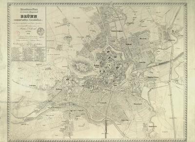 Situations-Plan der Landes-Hauptstadt Brünn sammt allen Vorstädten