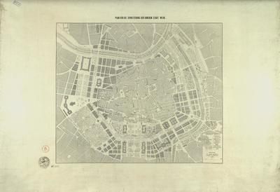 Plan für die Erweiterung der inneren Stadt Wien