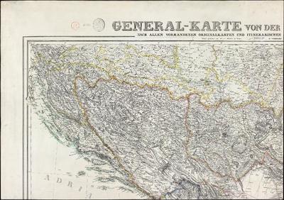 General-Karte von der europäischen Türkei