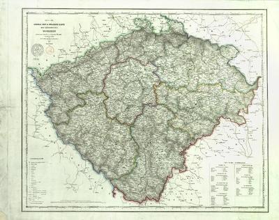 Neueste General Post und Strassen Karte des Königreiches Böhmen